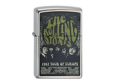 """ZIPPO """"ROLLING STONES 1967 TOUR"""" BRASS COLOR LIGHTER / 2003527 ** NEW in BOX **"""