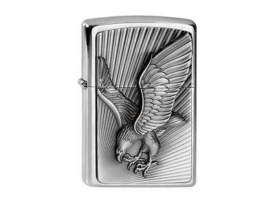 "ZIPPO ""EAGLE 2013"" EMBLEM BRUSHED CHROME LIGHTER / 2003979 ** NEW in BOX **"