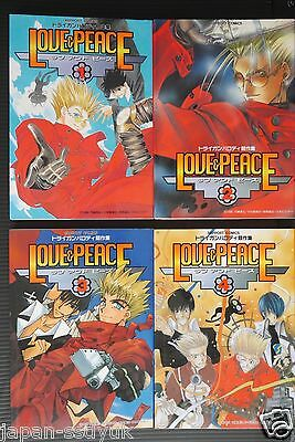 JAPAN Trigun Anthology Comic LOT: Love & peace 1~4 Complete Set