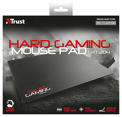 Trust 20423 Gxt 204 Hard Gaming Mouse Mat Pad, Large Surface Design 350 X 260Mm