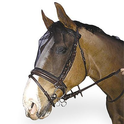 Aerborn Horse Riding Fly Mask  - Attaches to Bridle ( 60 ) Black Mesh