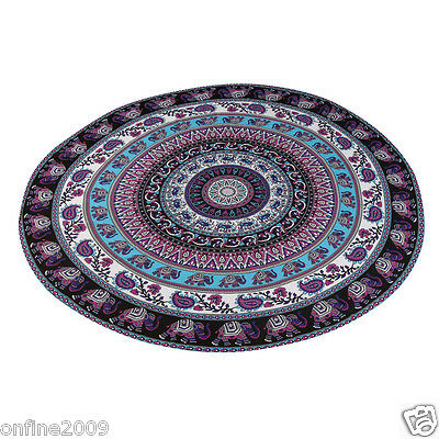Large Round Beach Pool Home Shower Towel Tapestry Blanket Table Yoga Beach Mat