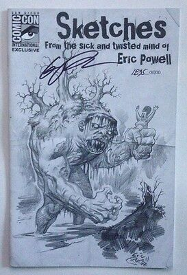 SKETCHES FROM THE SICK AND TWISTED MIND OF ERIC POWELL SIGNED 2008 SDCC