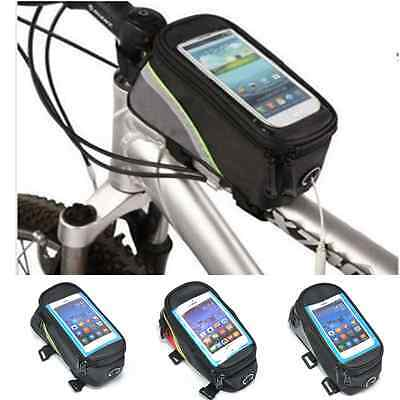 Cycling Bicycle Front Top Tube Frame Pannier Cellphone Mobile Phone Bag Pouch