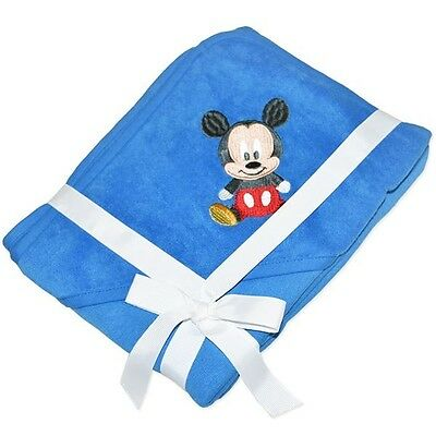 New Disney Baby Mickey Mouse Blue Hooded Towel - Great Gift 75Cms X75Cms