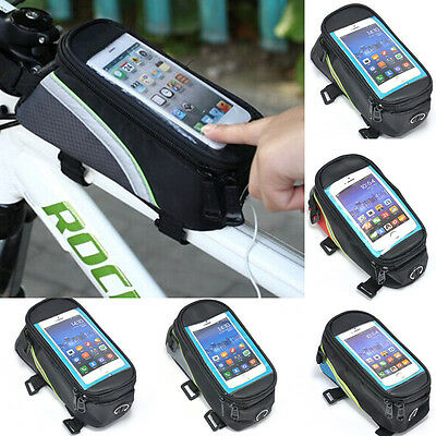 New Bicycle Cycling Bike Front Tube Frame Cellphone Mobile Phone Bag Waterproof