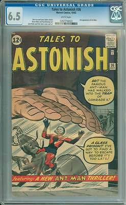 Tales to Astonish # 36  The Trap of Comrade X !   CGC 6.5 scarce book !
