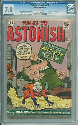Tales to Astonish # 38  Betrayed by the Ants  1st Egghead  CGC 7.0 scarce book !