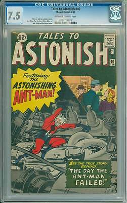 Tales to Astonish # 40  The Day the Ant-Man Failed !  CGC 7.5 scarce book !