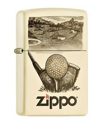 "ZIPPO ""GOLF"" CREME COLOR LIGHTER / 60000966 ** NEW in BOX **"