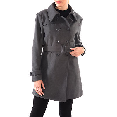 Alpine Swiss Keira Women's Trench Coat Double Breasted Wool Jacket Belted Blazer