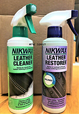 Nikwax Leather Cleaner & Leather Restorer Adds Water Repellency Riding Boots