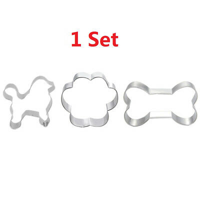 Stainless Steel Puppy Dog Paw Bone Shape Cookie Cake Cutter Baking Mould    S