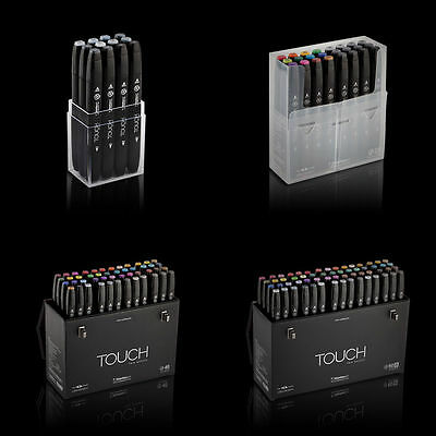 ShinHan Art TOUCH TWIN Markers Set Twin tips - 12, 24, 36, 48, 60 A, 60 B Colors