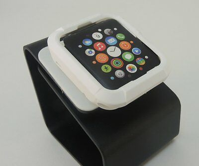 White iWatch  42mm Soft & Slim Protective Case  with 2 Free Screen Cover