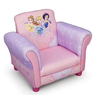 New Delta Children Disney Princess Upholstered Pink Chair Kids Padded Armchair