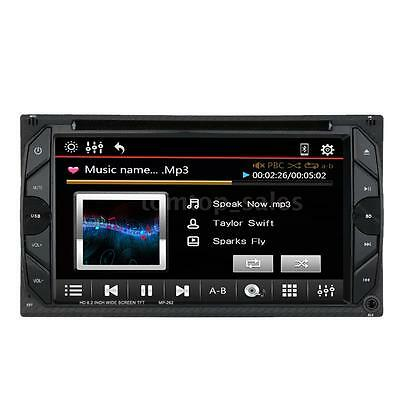 """6.2"""" 2 Din Car Stereo DVD Player Bluetooth FM Radio Touchscreen Aux In USB 6P1H"""