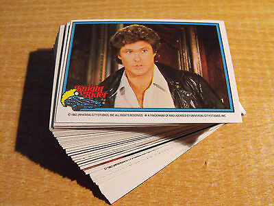 Knight Rider, Complete Basic Set Of 66 Cards, Includes All Variants
