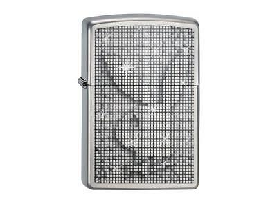 """ZIPPO """"PLAYBOY SPARKLE"""" BRUSHED CHROME LIGHTER / 2003522 ** NEW in BOX **"""