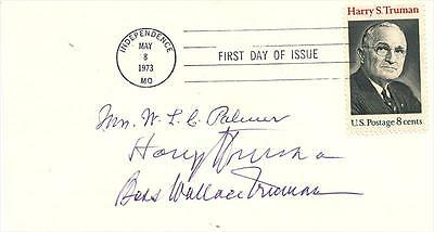 President Harry Truman & First Lady Bess Truman- Signed First Day Cover
