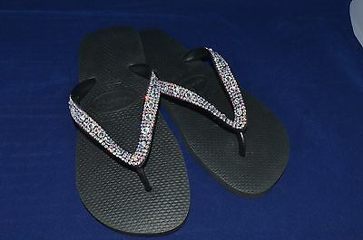 065ad9e3d6b90a Havaianas Bling Diamond wedding flip flops made with SWAROVSKI Elements  crystal