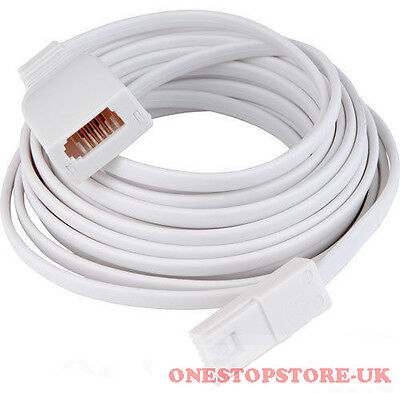 20M BT Landline Telephone Extension Cable Lead Phone Line Fax Modem Broadband