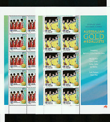 2000 Australia, Olympic Gold, Digital Set of 16 Blocks of 10, SG 2027A/42A