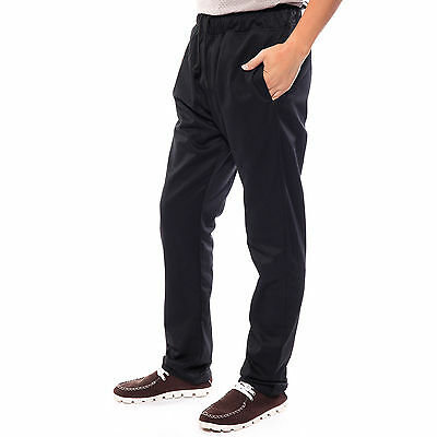 Black Chefs Chef Caterers Catering Elasticated Unisex Trousers Pants All Size