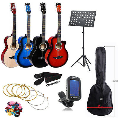"""Acoustic Classic Guitar 3/4 Size 38"""" For Beginners Student / Adults 6 Strings UK"""