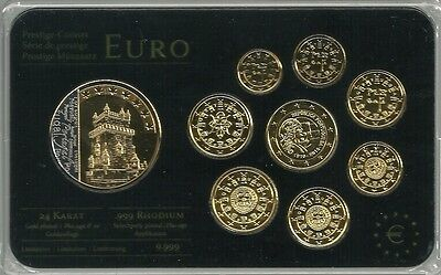 Portugal 2004/2010 Euro KMS Prestige Coinset Rhodium/Gold 3,88 € incl. Medaille