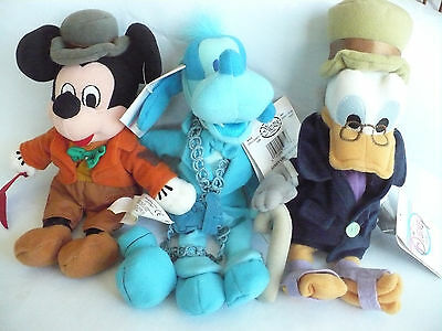 Disney Mickey's Christmas Carol Plush Beanie Set of 3 with Free Shipping