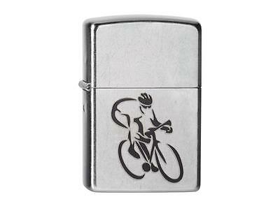 "ZIPPO ""CYCLIST"" CYCLING BIKE BICYCLE STREET CHROME LIGHTER / 60001384 NEW in BOX"