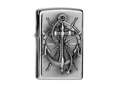 "ZIPPO ""NAUTIC"" POLISHED CHROME 3D EMBLEM LIGHTER / 2004290 ** NEW in BOX **"