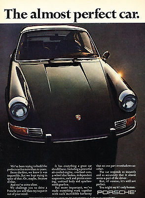 1970 Porsche 911 - perfect - Vintage Advertisement Car Print Ad J386