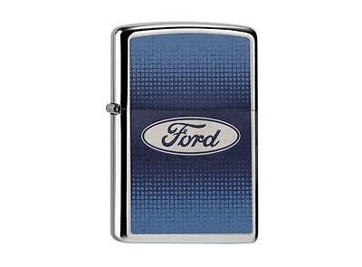 "ZIPPO ""FORD LOGO"" BRUSHED CHROME COLOR LIGHTER /60000220 NEW in BOX"