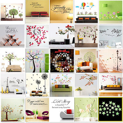 Wall Stickers Muraux Autocollant Mur Mural Chambre Salon Décoration Noël Art New