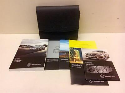 2015 Mercedes Benz E Class Amg Manuals And Booklets With Leather Wallet