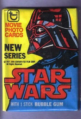 1977 Topps STAR WARS (Series 2) Wax Pack Fresh From Box RED Helmet!
