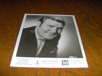 ORIGINAL VINTAGE BLACK & WHITE 8 x 10  PHOTOGRAPH OF BILLY WALKER