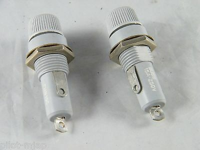 Lot Of 2 New Buss Panel Mount Fuse Holder ~ Part  # Fhn19G  ~ 15A & 250V