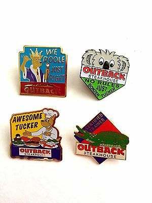 Lot of Four Outback Steakhouse Collectible Pins