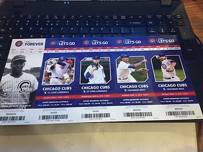 2015 Chicago Cubs Season Ticket Stub Pick Your Game Bryant Arrieta Rizzo Soler