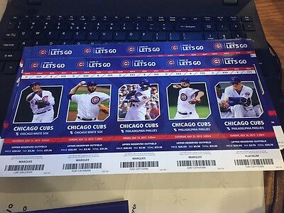2015 Chicago Cubs Season Ticket Stub Pick Your Game Bryant Arrieta Rizzo Soler 2