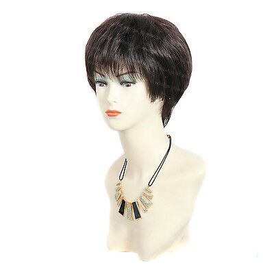 Wiwigs Lovely Short Straight Black Brown & Auburn Skin Top Ladies Wig