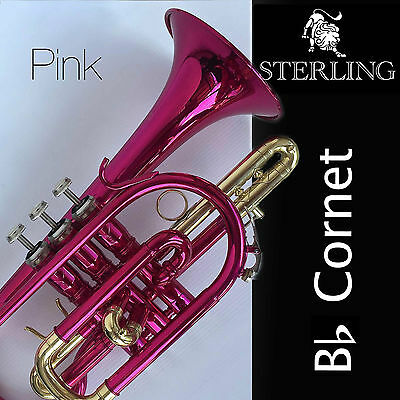 Sterling Bb CORNET • Gleaming PINK • With Case and Accessories • BRAND NEW •