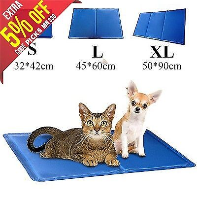 Pet Dog Cat Bed Non-Toxic Cooling Cool Water Gel Mat Summer Bed Pad 3 Sizes