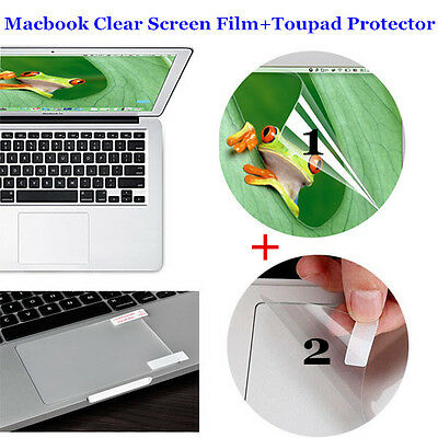 Anti-scratch Macbook Air Pro Retina Clear Matte Screen Film + Touchpad Protector