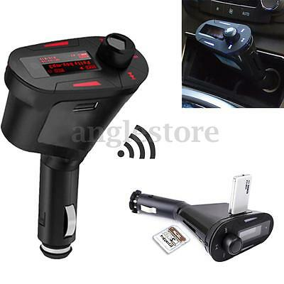 Sans Fil Kit Voiture Bluetooth MP3 Allume Cigare FM Transmetteur SD USB Chargeur