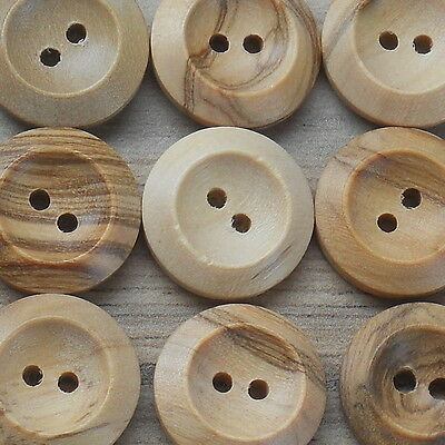 2-Hole Natural Wooden Buttons X 10 Buttons- Choose Your Size From 14Mm- 35Mm ***