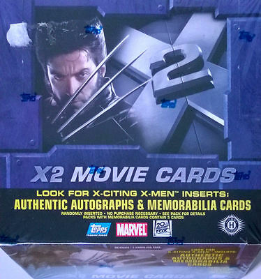 Topps X-MEN 2 Movie Trading Cards SEALED BOX of 36 Packets